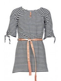 KIE-stone dress blue stripe