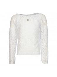 KIE-stone blouse white lace