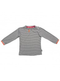 Kiezeltje long sleeve black white stripe