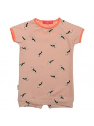 Kiezeltje dress peach bird