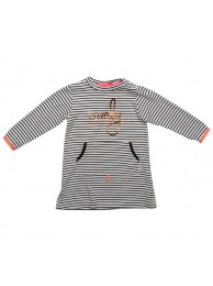 Kiezeltje dress black white stripe