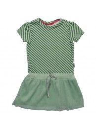 Kiezeltje dress green stripe